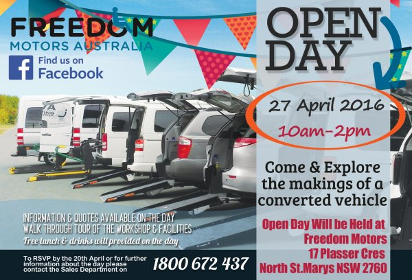 Wheelchair Ramp Accessible Vehicles at Handicap & Disability Shows & Visits - FREEDOM IS HAVING AN OPEN DAY